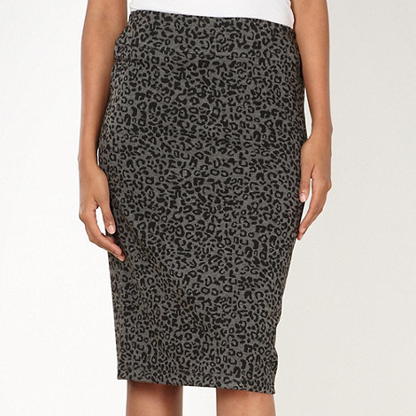 The Collection - Black animal print skirt
