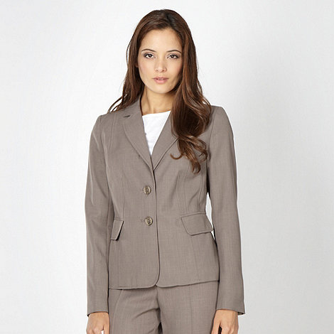 The Collection Petite - Petite taupe tailored suit jacket