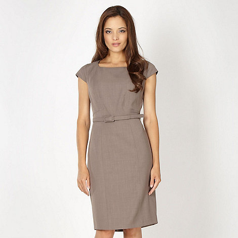 The Collection Petite - Petite taupe tailored work dress