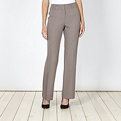 The Collection - Taupe crease front suit trousers
