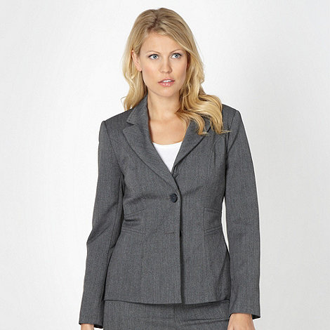 The Collection Petite - Petite grey textured suit jacket