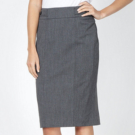 The Collection Petite - Petite grey textured suit skirt