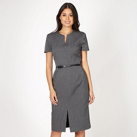 The Collection - Grey textured suit dress