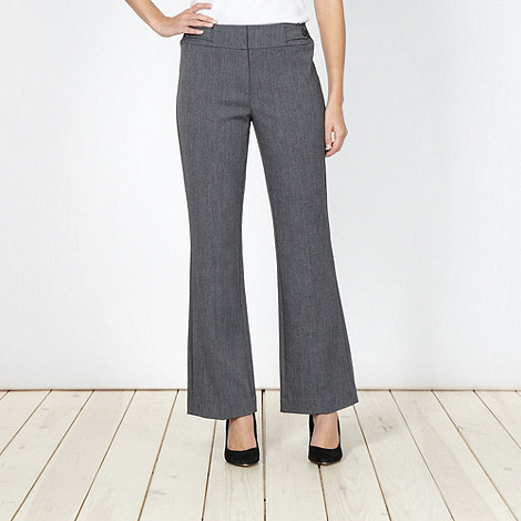 The Collection Petite - Petite grey textured suit trousers