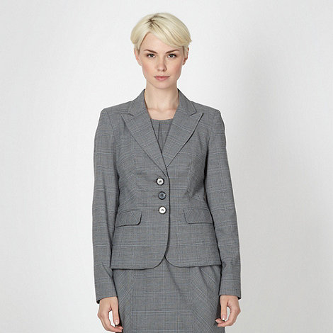 The Collection Petite - Petite grey checked suit jacket