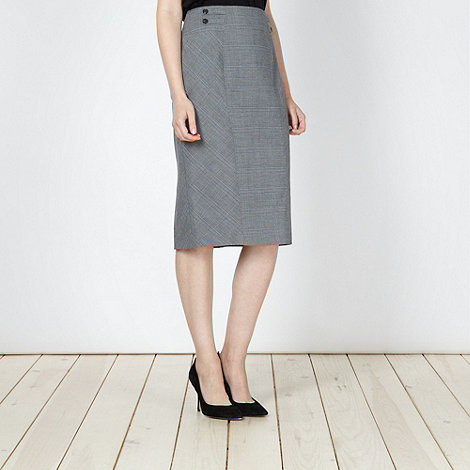 The Collection Petite - Petite grey checked suit skirt