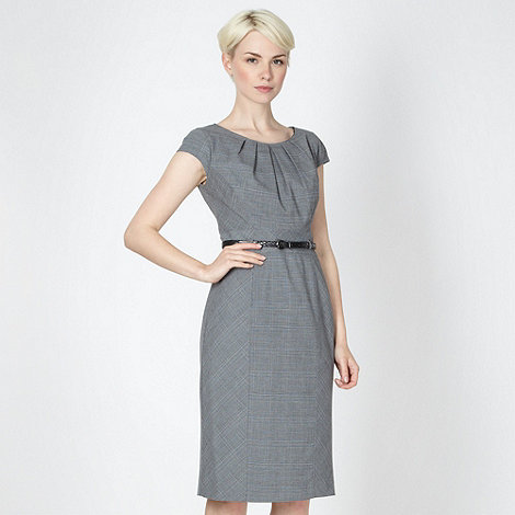 The Collection - Grey checked suit dress