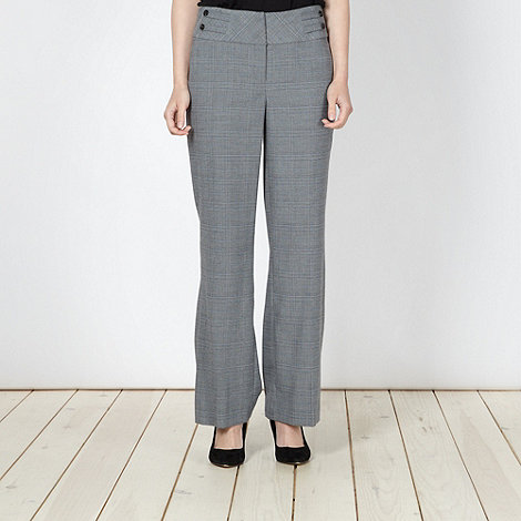 The Collection Petite - Petite grey checked suit trousers