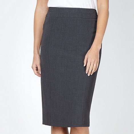 The Collection - Grey stab stitched pencil skirt