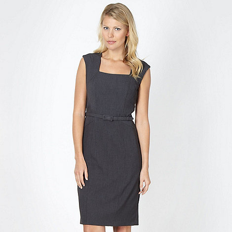 The Collection - Grey stab stitched work dress