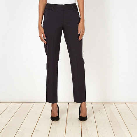 The Collection - Navy jacquard suit trousers
