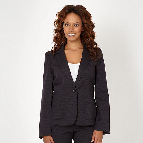 The Collection - Navy jacquard suit jacket