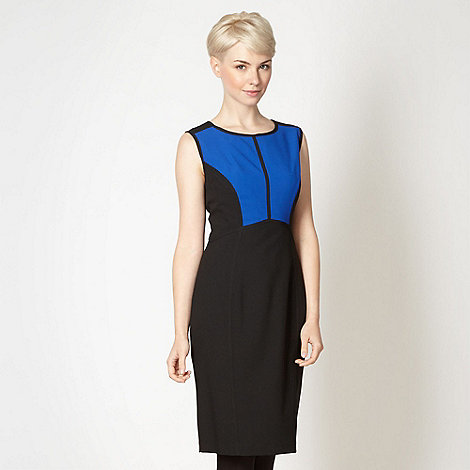 The Collection - Royal blue colour block dress
