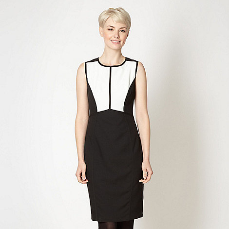 The Collection - Ivory colour block dress