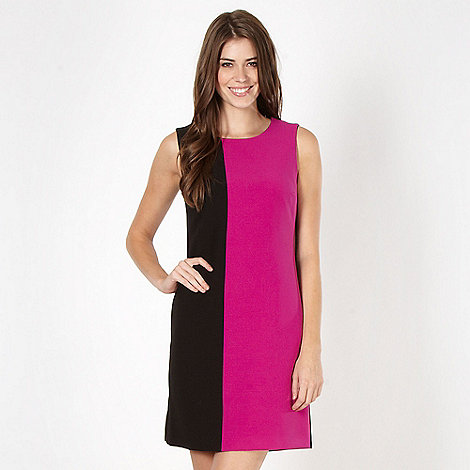 The Collection - Dark pink colour block dress