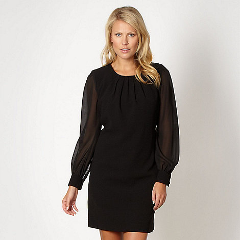 The Collection - Black pleated crepe dress