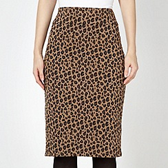 The Collection - Camel leopard skirt