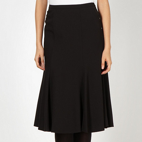 The Collection - Black flared hem skirt
