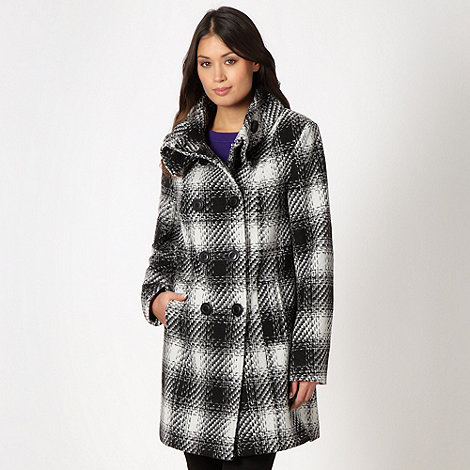 The Collection - Black wool blend checked coat
