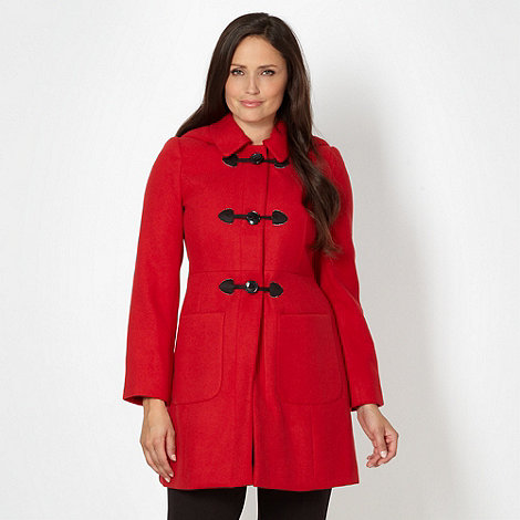 The Collection Petite - Petite red hooded duffle coat