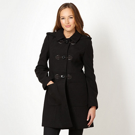 The Collection Petite - Petite black duffle coat