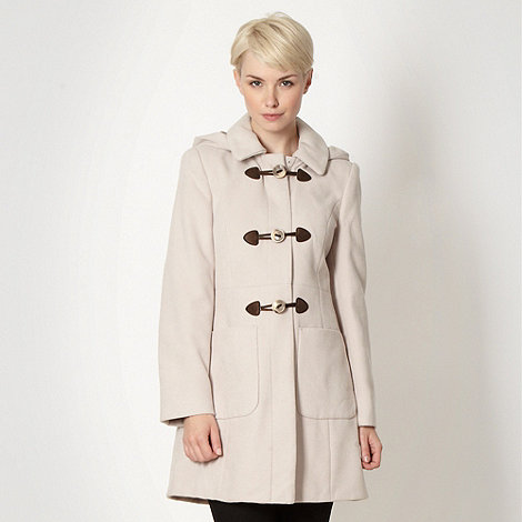 The Collection - Natural hooded duffle coat