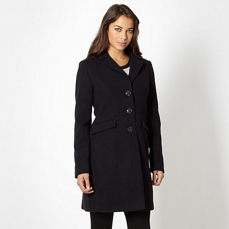 The Collection - Navy three quarter length coat