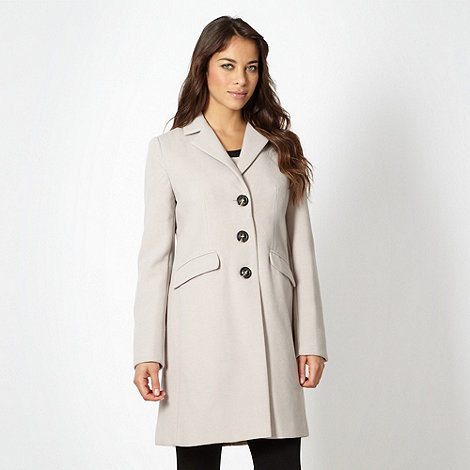 The Collection - Beige three quarter length coat