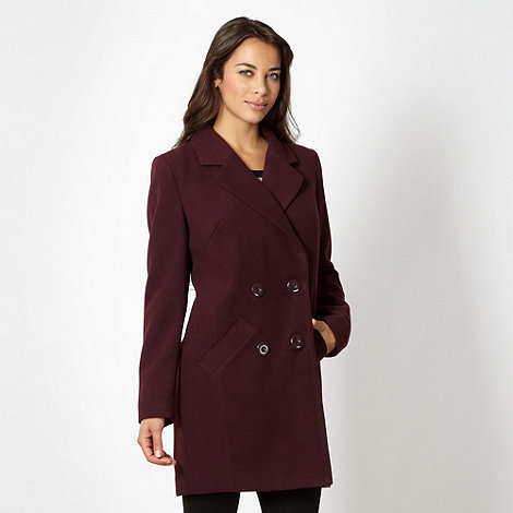 The Collection - Wine double breasted coat