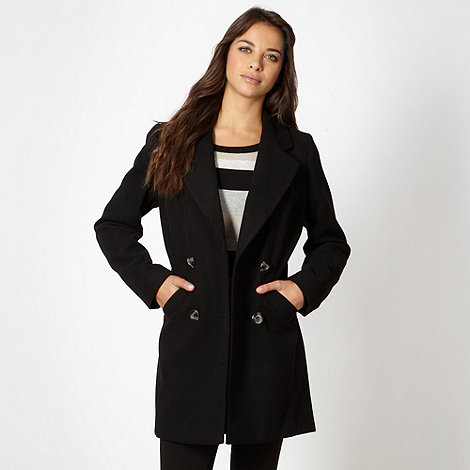 The Collection - Black double breasted coat