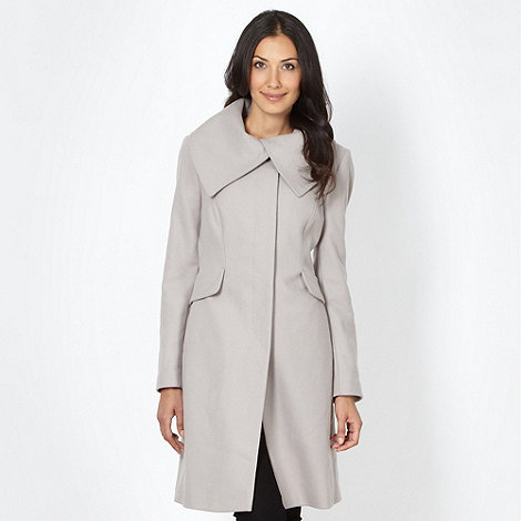 The Collection - Natural wool blend collar coat