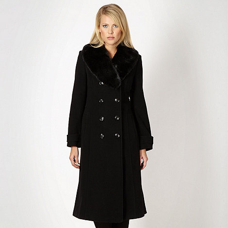 The Collection Petite - Petite black faux fur coat