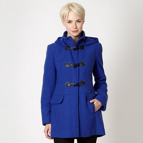 The Collection - Blue textured duffle coat