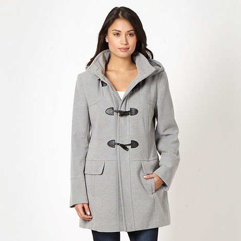 The Collection Petite - Petite grey hooded duffle coat