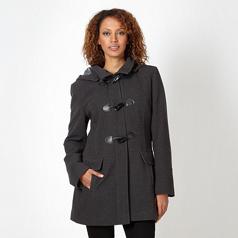 The Collection Petite - Petite grey duffle coat