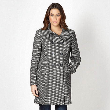 The Collection - Dark grey textured coat