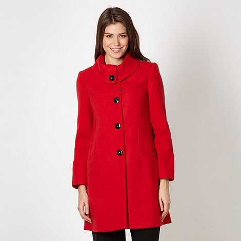 The Collection - Red button plain coat