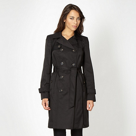The Collection - Black mid trench mac