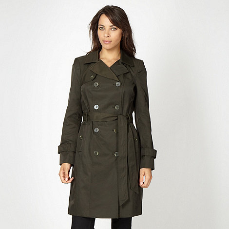 The Collection - Khaki mid trench mac
