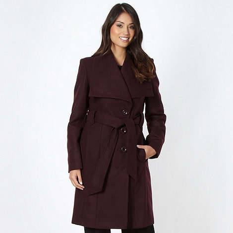 The Collection Petite - Petite purple wing collar coat