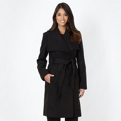 The Collection - Black wing collar coat