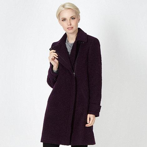 The Collection - Purple zip long coat