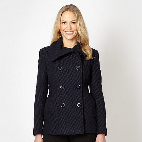The Collection - Navy textured pattern jacket