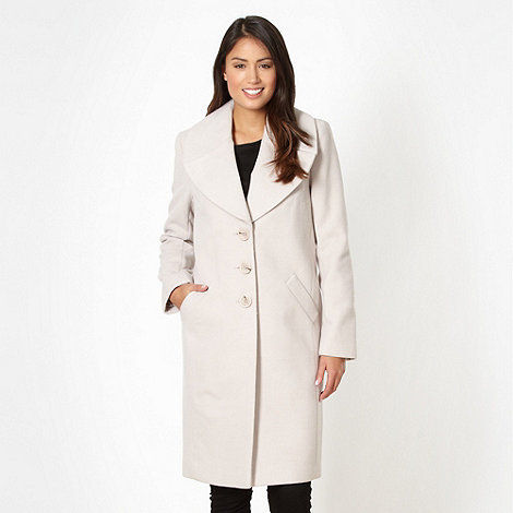 The Collection - Natural oversized collar coat