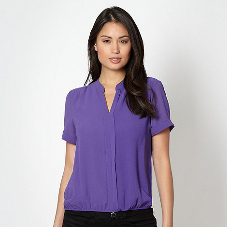 The Collection - Purple draped top