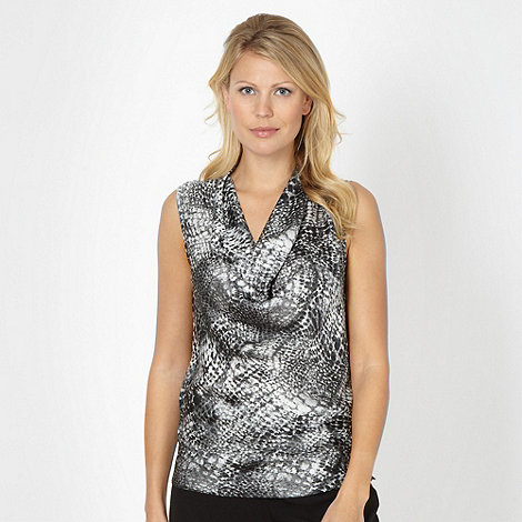The Collection - Grey snake printed top