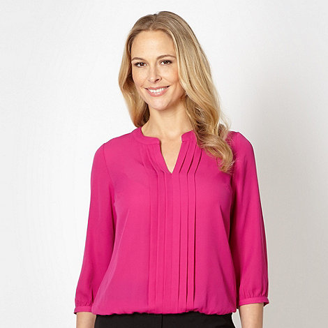 The Collection - Dark pink pleat front top