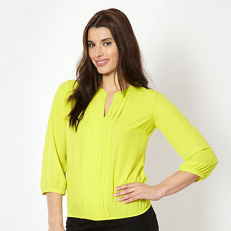 The Collection Petite - Petite lime pleat front top