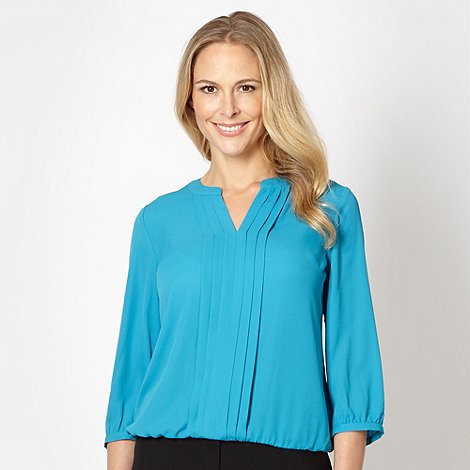 The Collection - Turquoise pleat front top