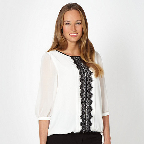 The Collection - Ivory lace front shell top